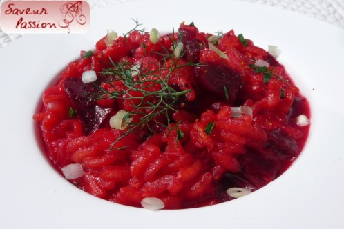 risotto betterave asperge blanche fenouil sauvage
