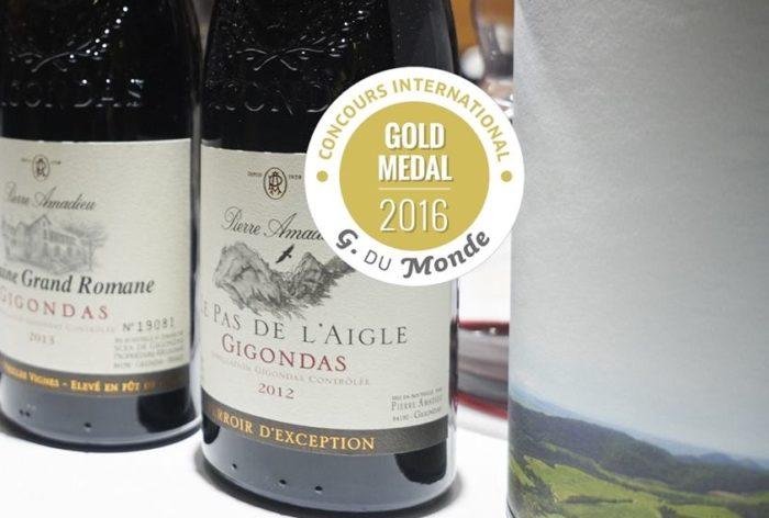 medaille grenache du monde Gigondas Pas de l'Aigle