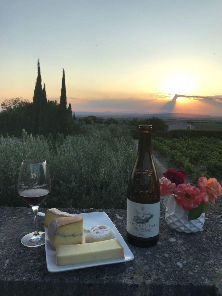accord mets vins Pas de l'Aigle Gigondas fromage