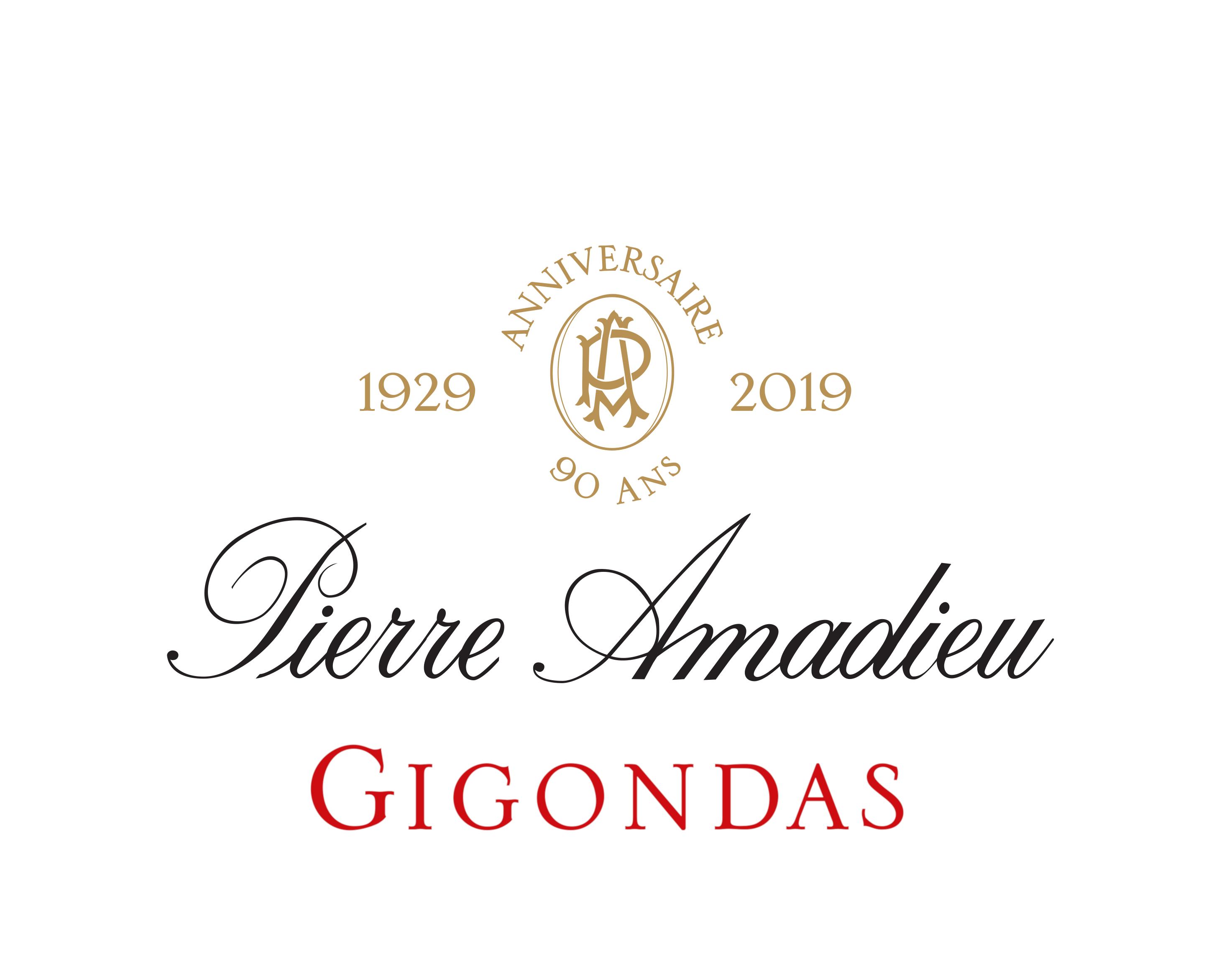 logo Anniversaire Pierre Amadieu Gigondas