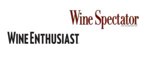 Presse logos Wine Spectator et Wine Enthusiast