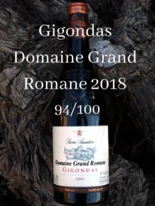 Presse Gigondas Domaine Grand Romane 94/100 Wine Spectator et Wine Enthusiast