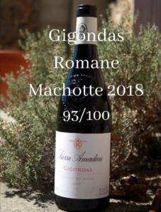 Presse Gigondas Romane Machotte 2018 93/100 Wine Spectator et Wine Enthusiast