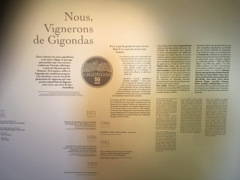 """Présentation de l'exposition """"Nous, Vignerons de Gigondas"""""""