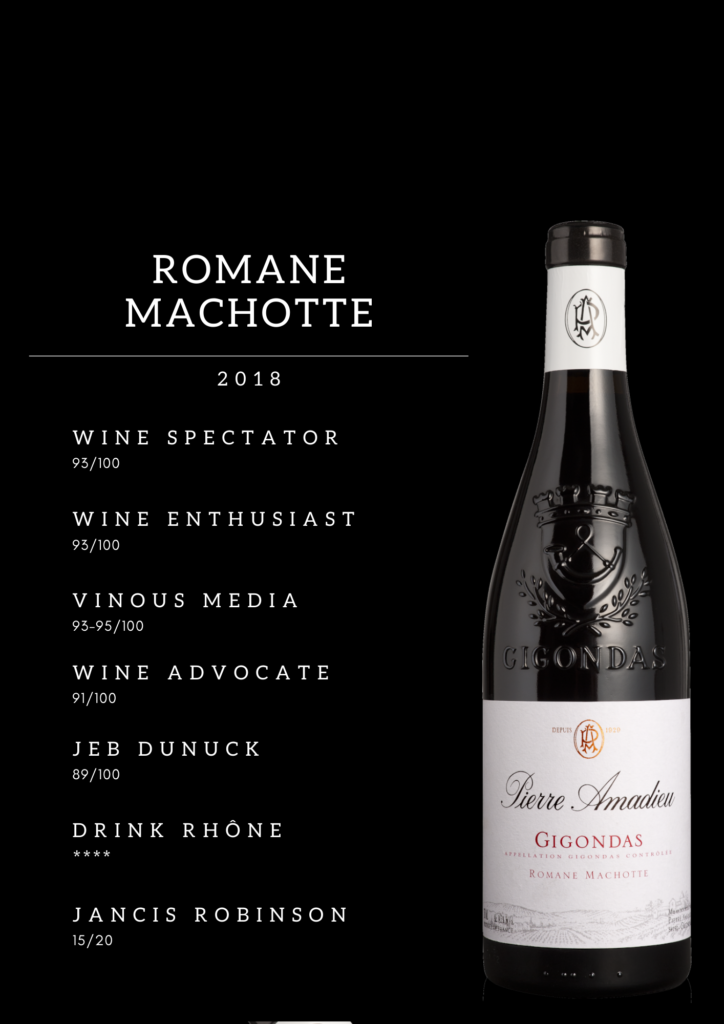 Presse Wine Enthusiast Gigondas Romane Machotte 2018