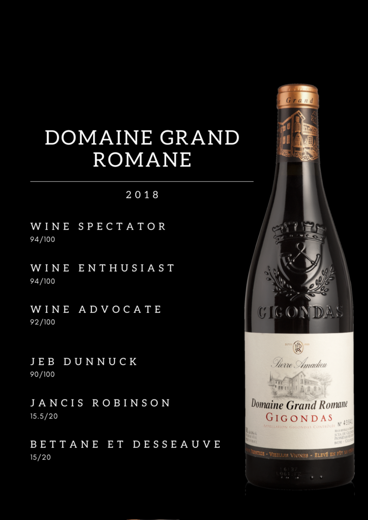 Presse Wine Spectator Gigondas Domaine Grand Romane 2018
