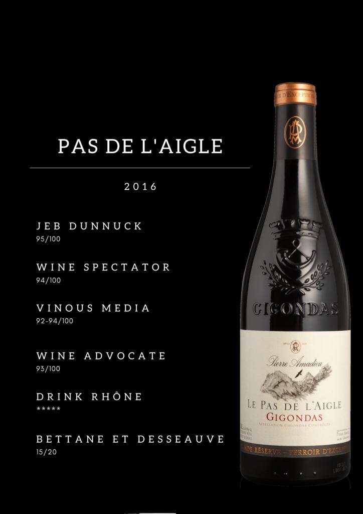 Presse Wine Enthusiast Gigondas Pas de L'Aigle 2016