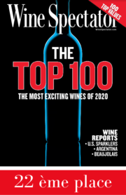 Presse 22éme place du Top 100 Wine Spectator
